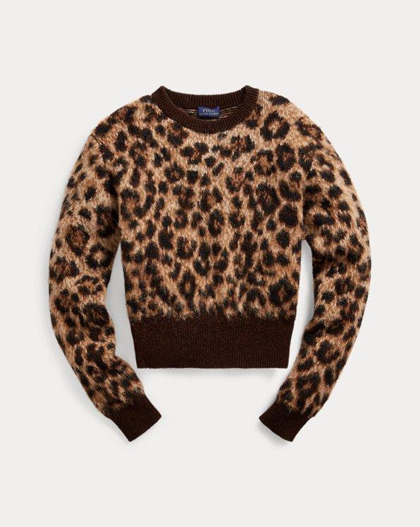 Leopard-Print Wool Jumper