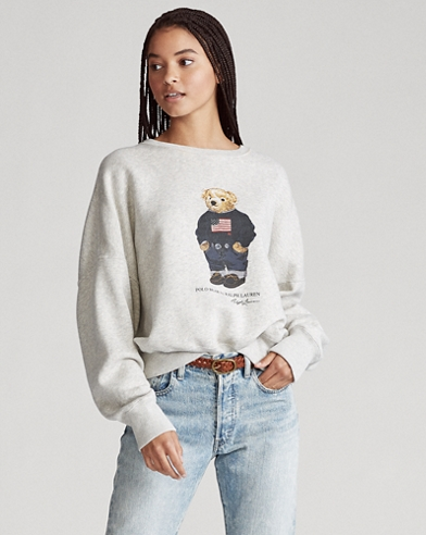 Flag Bear Graphic Sweatshirt