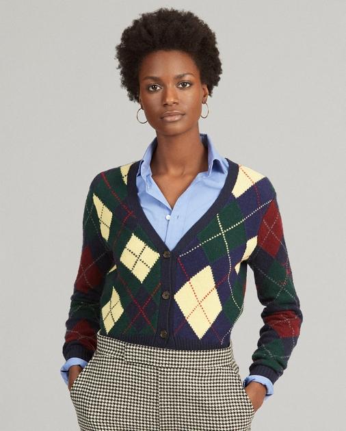 Polo Ralph Lauren Argyle Wool-Blend Cardigan 1