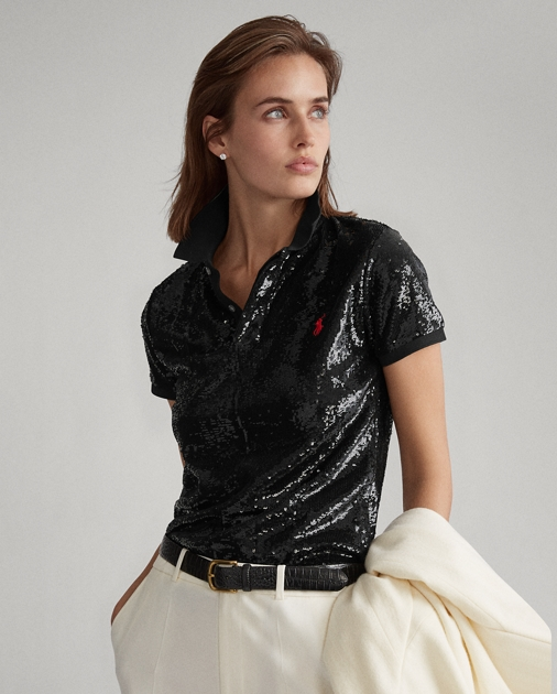 Polo Ralph Lauren Sequined Polo Shirt 1