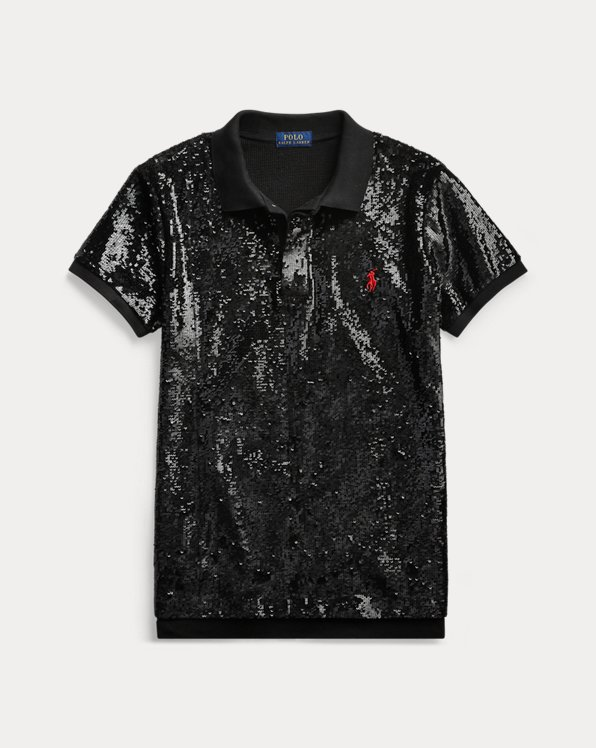 Sequined Polo Shirt
