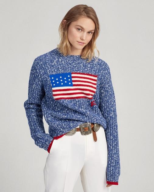 Polo Ralph Lauren Flag Wool-Blend Sweater 1
