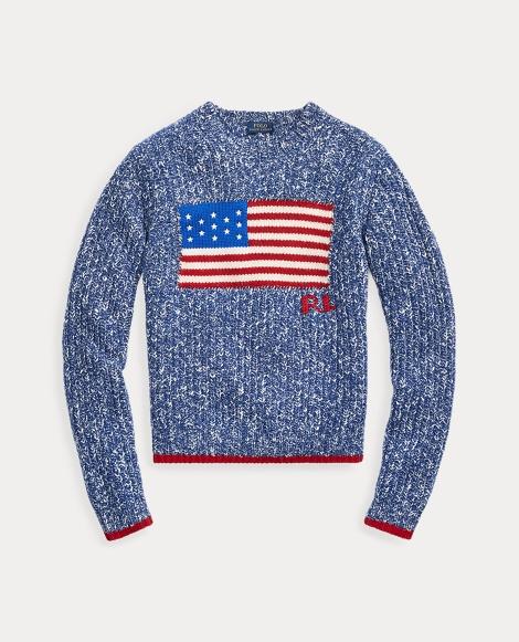 Jersey de bandera en mezcla de lana