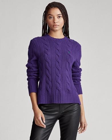 Jersey de mezcla de lana y punto de ochos