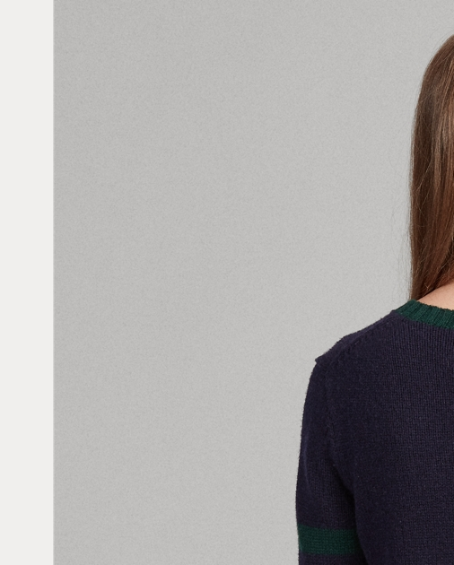 Sweater Polo Bear Wool Polo Blend USVMpz