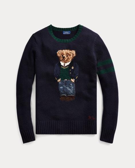 Jersey en mezcla de lana con Polo Bear
