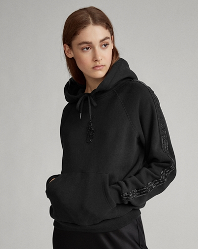 Beaded Fleece Hoodie