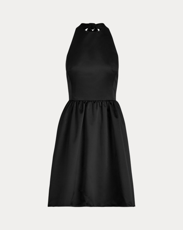 Self-Tie Satin Dress