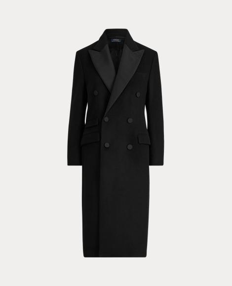 Manteau de smoking en laine mélangée