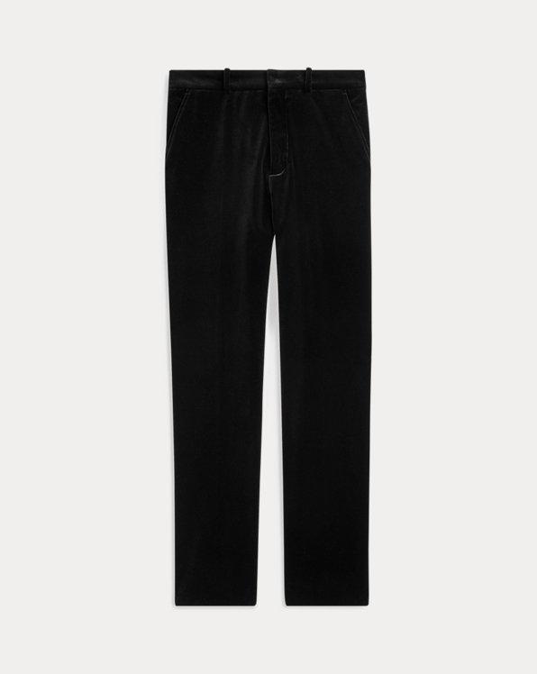 Velvet Straight-Leg Trouser