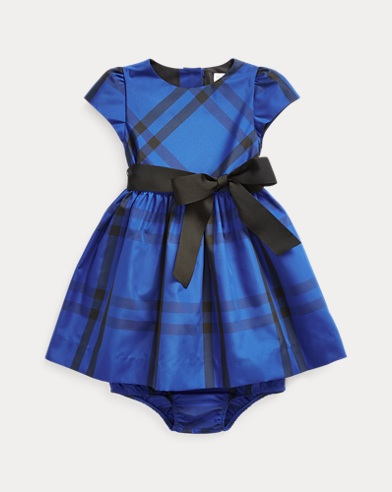 Plaid Taffeta Dress & Bloomer