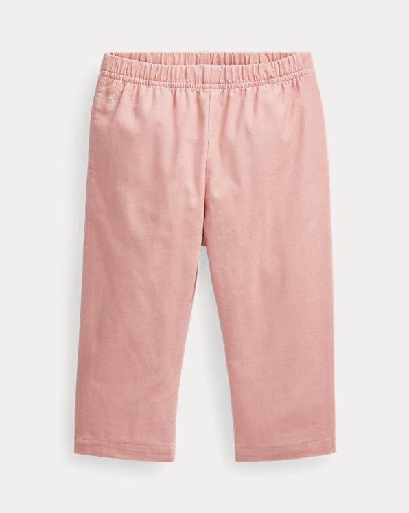 Pantalon à enfiler en velours de coton côtelé