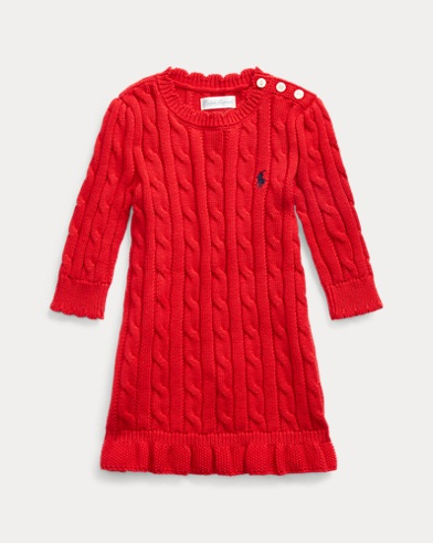 Cable-Knit Jumper Dress