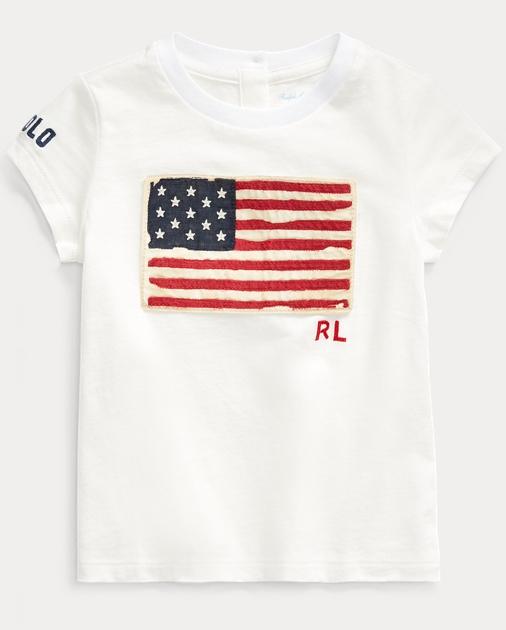 Baby Girl Camiseta de punto jersey con bandera 1