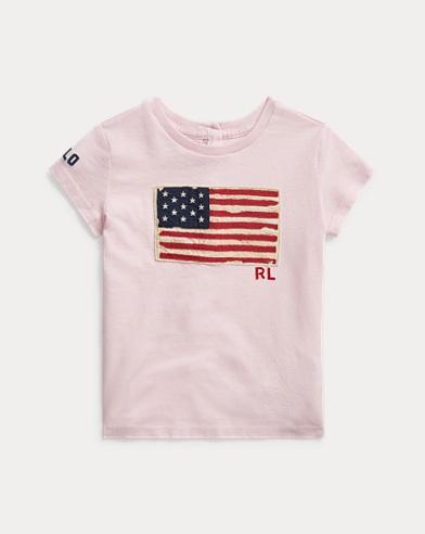 T-Shirt mit Flaggenmotiv