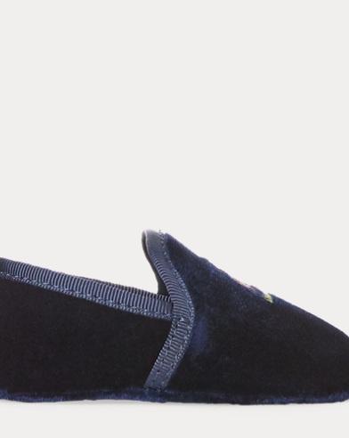 Ash Embroidered Velvet Slipper