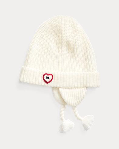 Chenille-Patch Earflap Hat