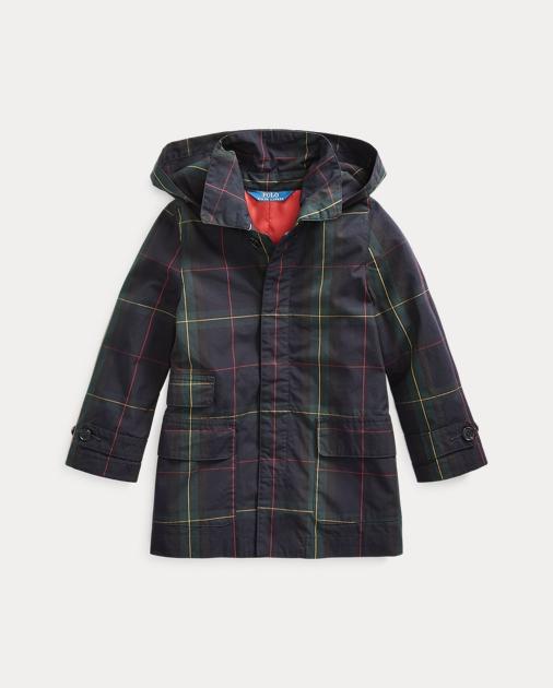 Girls 2-6x Black Watch Cotton Coat 1