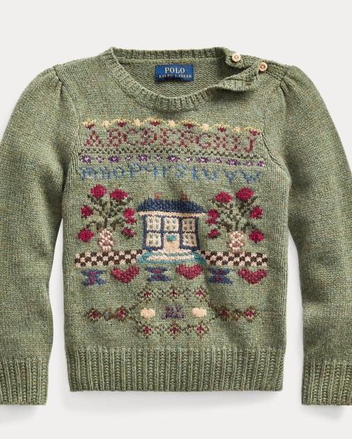 Sweater Blend Intarsia Sweater Wool Blend Intarsia Intarsia Wool Sweater Blend Intarsia Wool DH92IE