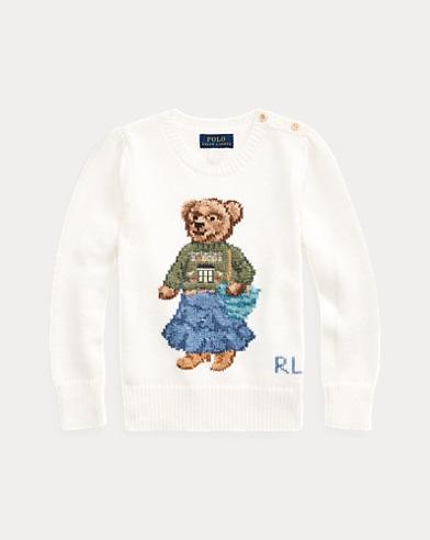 Baumwollpullover mit Santa Fe Bear