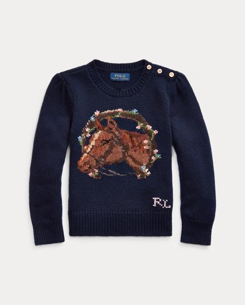 online store d9aa7 2b811 Horse Wool-Blend Sweater