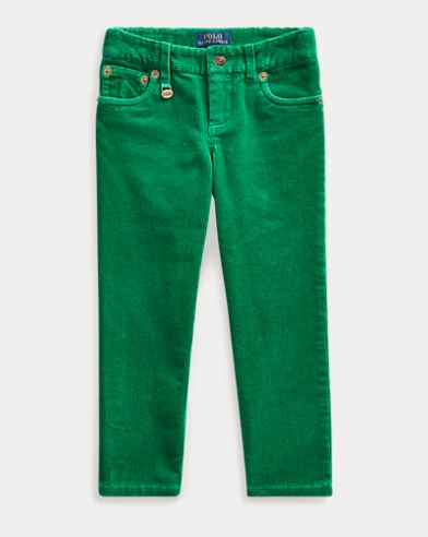 Pantaloni skinny in velluto a coste stretch