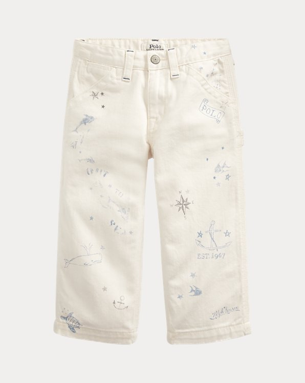 Nautical Wide-Leg Cotton Jean