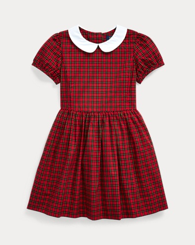 Tartan Cotton Poplin Dress