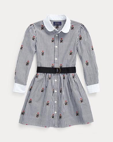 Baumwollhemdkleid mit Polo Bear