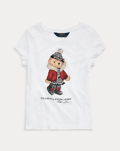Holiday Bear Cotton Jersey Tee