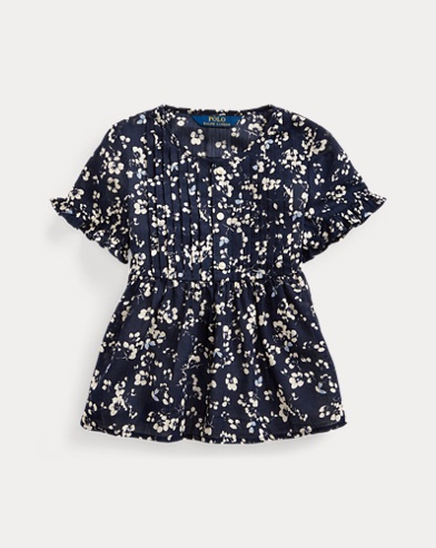 Floral Cotton Dobby Top