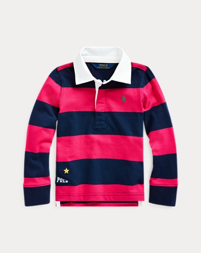 Embroidered Cotton Rugby Shirt