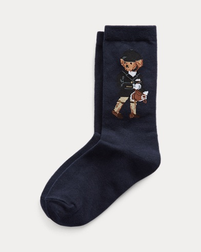 Equestrian Bear Crew Socks