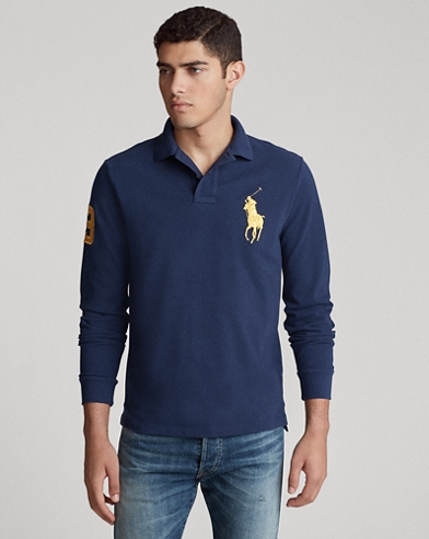 Polo maniche lunghe Custom Slim-Fit