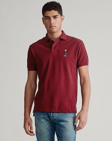 Custom Slim Fit Bear-Polo aus Piqué