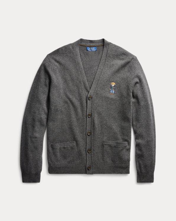 Polo Bear Merino Wool Cardigan