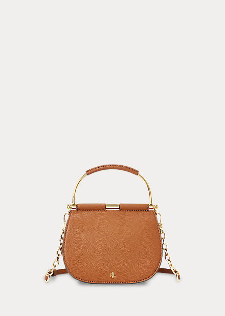 Polo RalphLauren Mini Leather Round Satchel