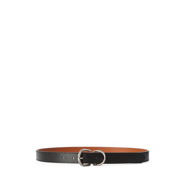 폴로 랄프로렌 Polo Ralph Lauren Reversible Leather Belt,Black/Field Brown