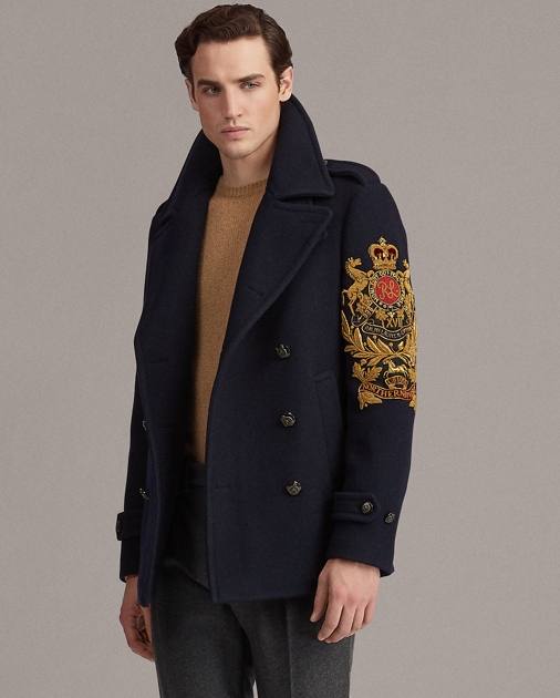 good various kinds of highly coveted range of Bullion-Patch Peacoat