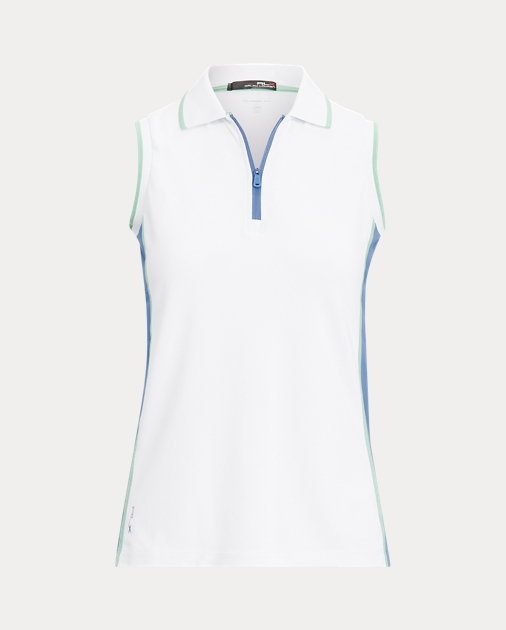 Polo RalphLauren Striped Sleeveless Golf Polo