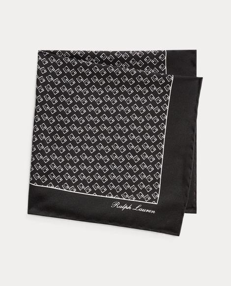 Art Deco Silk Pocket Square