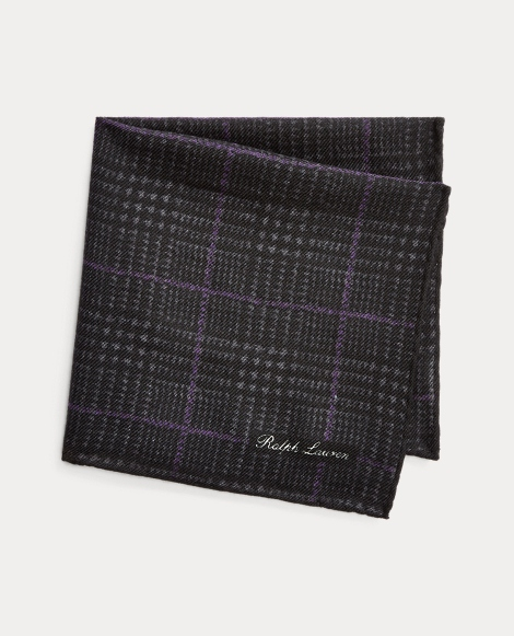 Glen Plaid-Print Pocket Square