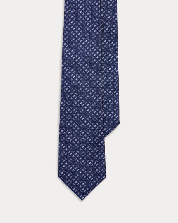 Cravate en soie à motifs