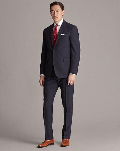 Gregory Pinstripe Wool Suit