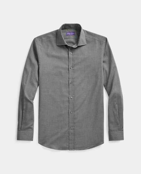 Cotton-Cashmere Twill Shirt