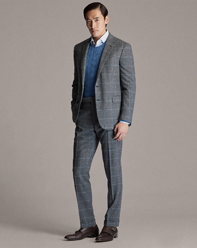 Gregory Plaid Suit Trouser