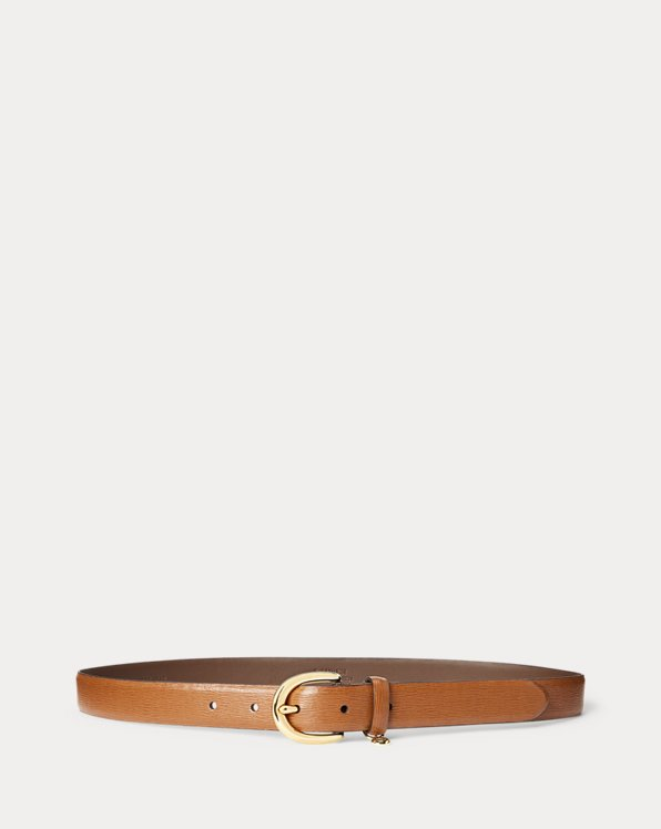 Charm Saffiano Leather Belt