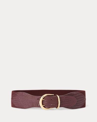 Stretch Leather Belt