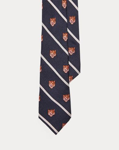Striped Tiger Silk Tie