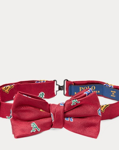 Letter Silk Bow Tie